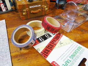 WASHI メジャリング・マスキングテープ 3個入り ■ アメリカ雑貨 アメリカン雑貨
