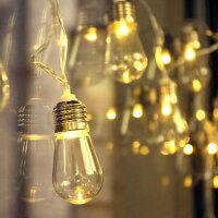 エジソンバルブの11連LEDストリングライト■アメリカ雑貨アメリカン雑貨