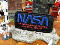 NASAワッペン(NASA・ブラック&ブルー)■自分仕様だから愛着も強くなる!アメリカ雑貨屋アメリカン雑貨おしゃれアルファベットエンブレムアメ雑貨アイロン手芸クラフトパッチ人気刺繍接着カッコイイファッションミリタリーグッズ