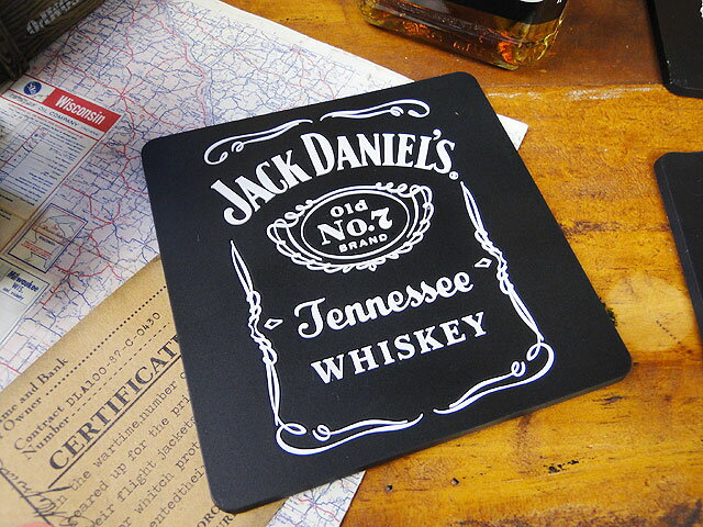 ジャック・ダニエルのパブコースター ■ アメリカ雑貨 アメリカン雑貨