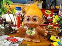 願いが叶っちゃう!トロール人形バンク(オレンジ) ■ アメリカ雑貨 アメリカン雑貨 アメキャラ 貯金箱