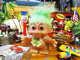 願いが叶っちゃう!トロール人形バンク(グリーン) ■ アメリカ雑貨 アメリカン雑貨 アメキャラ 貯金箱