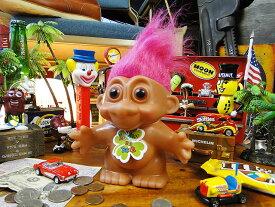 願いが叶っちゃう!トロール人形バンク(ピンク) ■ アメリカ雑貨 アメリカン雑貨 アメキャラ 貯金箱