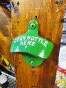 スターXブランドのボトルオープナー(ディアグリーン) ■ アメリカ雑貨 アメリカン雑貨 栓抜き
