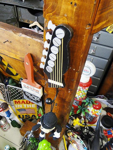 ギターヘッドフック(ブラック)■アメリカ雑貨アメリカン雑貨