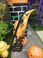 ハロウィンのフラッグバナー(オレンジ)■アメリカ雑貨アメリカン雑貨