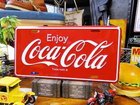コカ・コーラのライセンスプレート(ロゴ) ■ ナンバープレート アメリカ看板 サインプレート アメリカ雑貨 アメリカン雑貨 ■ コカコーラグッズ 雑貨 グッズ ブランド Coca-Cola アメリカ雑貨 アメリカン雑貨 レトロ ポスター アンティーク アメリカン