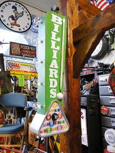 アメリカのアーケードサインのウォールオブジェ(ビリヤード) ■ アメリカ雑貨 アメリカン雑貨 看板 オープン 壁掛け インテリア アンティーク調 店舗用 ディスプレイ おしゃれ グッズ オ