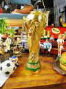 サッカーファンなら一度は手にしてみたい... ワールドカップトロフィーレプリカ ■ アメリカ雑貨 アメリカン雑貨 置物…