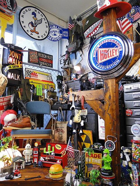ホーリーのガレージネオンクロック■アメリカ雑貨アメリカン雑貨