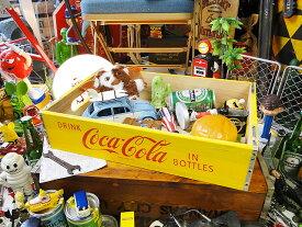 コカ・コーラブランド ウッドクレート イエロー ■ コカコーラグッズ 雑貨 グッズ ブランド Coca-Cola アメリカ雑貨 アメリカン雑貨 コーラ 置物 インテリア おしゃれ 人気 小物 こだわり派が夢中になる! 人気のアメリカ雑貨屋 木箱 小箱 ウッドボックス
