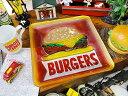 ポップデコ・ガラスプレート(ハンバーガー) ■ アメリカ雑貨 アメリカン雑貨 通販 こだわり派が夢中になる! 人気の…