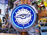 アメリカンネオンクロック(シボレー/ブルー)■アメリカ雑貨アメリカン雑貨