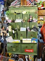 マーキュリーハンギングポケット(カーキ)■アメリカ雑貨アメリカン雑貨おしゃれ人気ブランドインテリア雑貨グッズ小物入れアメリカ雑貨通販