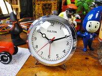 ダルトンクォーツアラームクロック(クローム)■アメリカ雑貨アメリカン雑貨目覚まし時計おしゃれおもしろアラームクロックめざまし時計かっこいいプレゼント置き時計アメリカ雑貨インテリア