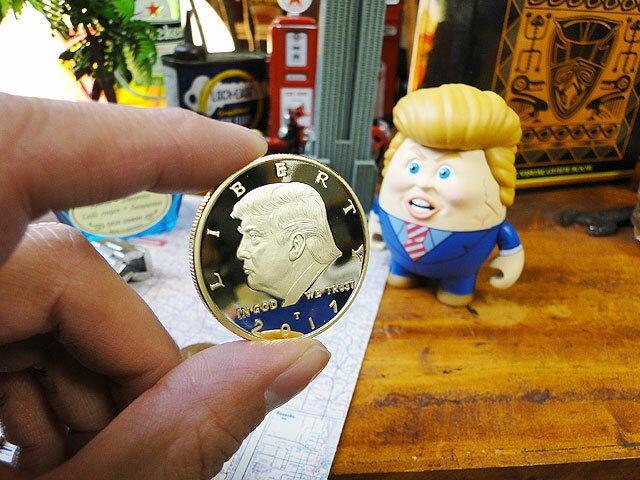第45代アメリカ合衆国大統領ドナルド・トランプの記念コイン ■ アメリカ雑貨 アメリカン雑貨