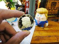 第45代アメリカ合衆国大統領ドナルド・トランプの記念コイン■アメリカ雑貨アメリカン雑貨