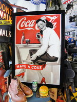 ハリウッド・ウォールアートパネル(コカ・コーラ)■アメリカ雑貨アメリカン雑貨