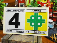 ハワイの車検バンパーステッカーレプリカ(4月)■アメリカ雑貨アメリカン雑貨