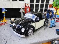 Jada1959年フォルクスワーゲン・ビートルのダイキャストモデルカー1/24スケール(ブラック)■アメリカ雑貨アメリカン雑貨アメ車インテリアこだわり派が夢中になる人気のアメリカ雑貨屋小物モデルカー正規品おしゃれガレージグッズミニカー