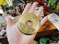 ご縁がありますデッカイ五円マグネット■アメリカ雑貨アメリカン雑貨
