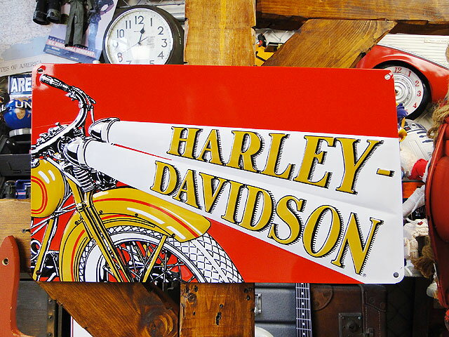 ハーレーダビッドソンのエンボス・ティンサイン(ヘッドライト) ■ アメリカ雑貨 アメリカン雑貨 harley davidson 鉄馬 壁面装飾 装飾 飾り ディスプレイ 内装 人気 ウォールデコレーション レトロ ポスター