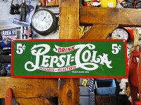 ペプシのエンボス・ティンサイン(5セント/グリーン)■アメリカ雑貨アメリカン雑貨