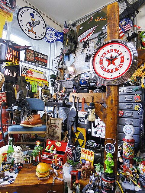 アメリカンネオンクロック(テキサコ)■アメリカ雑貨アメリカン雑貨