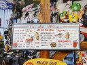 ダイナーメニューのエンボス・ティンサイン ■ 楽天1位 本場のアメリカから直輸入! アメリカ雑貨 アメリカン雑貨 イ…