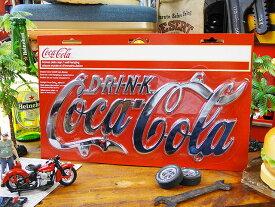 コカ・コーラ ライセンスプレートサイン ■ コカコーラグッズ 雑貨 グッズ ブランド Coca-Cola アメリカ雑貨 アメリカン雑貨 壁面装飾 装飾 飾り ディスプレイ 内装 人気 ウォールデコレーション コーラ こだわり派が夢中になる! 人気のアメリカ雑貨屋