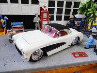 Jada1957年シボレー・コルベットのダイキャストモデルカー1/24スケール(ホワイト)■ミニカーアメ車アメリカ雑貨アメリカン雑貨アメリカ雑貨インテリアこだわり派が夢中になる人気のアメリカ雑貨屋小物モデルカー正規品