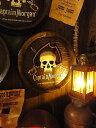 キャプテン・モルガンのウイスキー樽型ウォールオブジェ(Lサイズ) ■ アメリカ雑貨 アメリカン雑貨 壁掛け カッコイ…