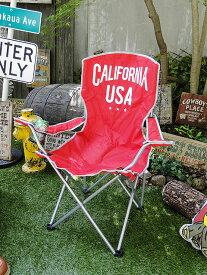 カリフォルニア州旗の折りたたみチェアー(キャリングバッグ付き)  ■ アメリカ雑貨 アメリカン雑貨