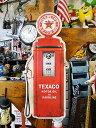 テキサコのガスポンプ型ブリキ看板 ■ サインプレート ブリキ アメリカ看板 ティンサイン サインボード アメリカンブ…