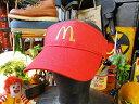 マクドナルド マックバイザー(レッド) ■ アメリカ雑貨 アメリカン雑貨 アメリカ 雑貨 キャップ メンズ レディース …