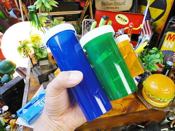 アメリカのピルケース3色セット(3サイズ/9本セット)■アメリカ雑貨アメリカン雑貨ピルケース