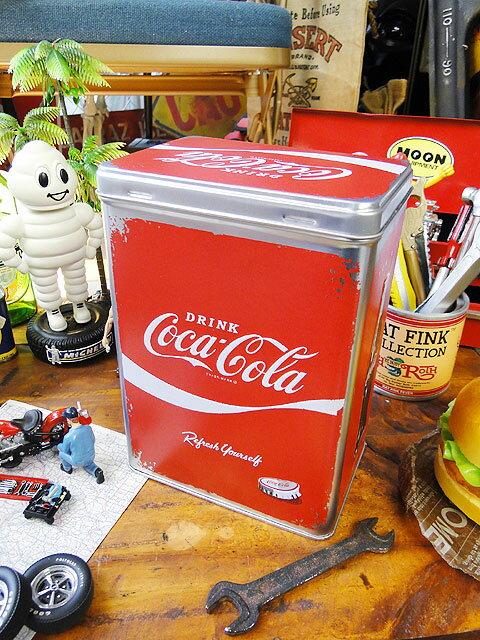 コカ・コーラのティンボックス Lサイズ ■ コカコーラグッズ 雑貨 グッズ ブランド Coca-Cola アメリカ雑貨 アメリカン雑貨 コーラ 置物 インテリア おしゃれ 人気 小物 こだわり派が夢中になる! 人気のアメリカ雑貨屋