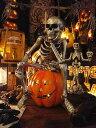 【即納】【在庫あり】ハロウィン 考えるメタリックガイコツ ■ ハロウィン グッズ 雑貨 飾り ディスプレイ ハロウィ…