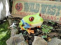 デカサイズ!カエルのリアルオブジェ(アカメアマガエル)■アメリカ雑貨アメリカン雑貨