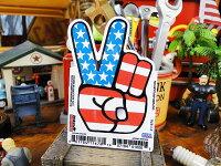 USAステッカーSサイズ(ピースマーク)■アメリカ雑貨アメリカン雑貨