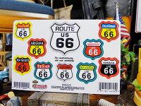 ルート66のステッカーLサイズ(10デザイン/カラー)■自分仕様だから愛着も強くなる!こだわり派が夢中になる人気のアメリカ雑貨屋ステッカーアメリカン雑貨車バイクスーツケースデカールシールオリジナルアルファベット世田谷ベース