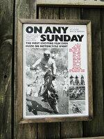 ブルース・ブラウンフィルムムービーポスター&ウッドフレーム(ONANYSUNDAY/ウィリー)■アメリカ雑貨アメリカン雑貨