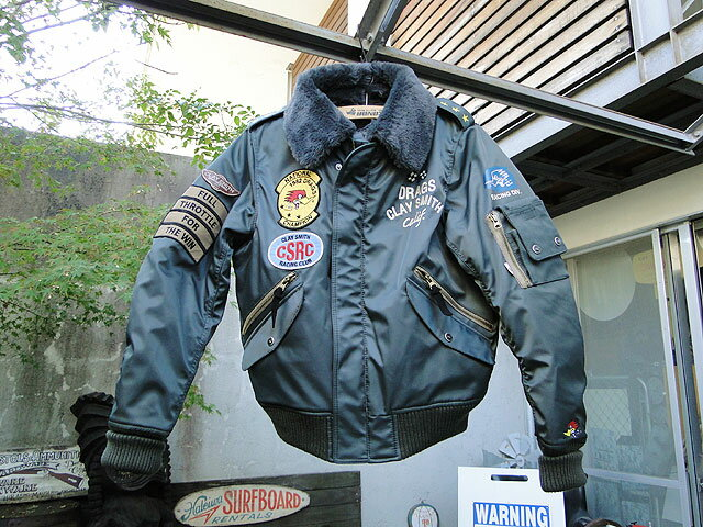 クレイスミスのフライトジャケット(ガンメタ) ■ アメリカ雑貨 アメリカン雑貨