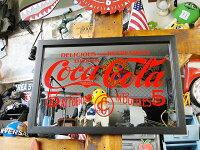 コカ・コーラパブミラー(5セント)■コカコーラグッズ雑貨グッズブランドCoca-Colaアメリカ雑貨アメリカン雑貨壁掛け鏡おしゃれ壁面装飾装飾ディスプレイ内装人気ウォールデコウォールデコレーション