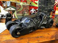 映画「バットマンダークナイト」バットモービルのダイキャストモデルカー(バットマン付き)■アメリカ雑貨アメリカン雑貨