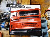 ポルシェのポップアートフレーム(911GT3/LAVAORANGE)■アメリカ雑貨アメリカン雑貨