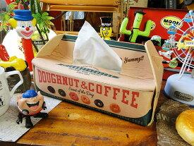 ドーナツボックスのティッシュケース ■ アメリカ雑貨 アメリカン雑貨