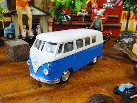 1962 ワーゲンバスのミニカー(スカイブルー)