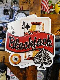 ブラックジャックのエンボスティンサイン