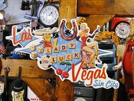 ラスベガス・レディラックのエンボスティンサイン